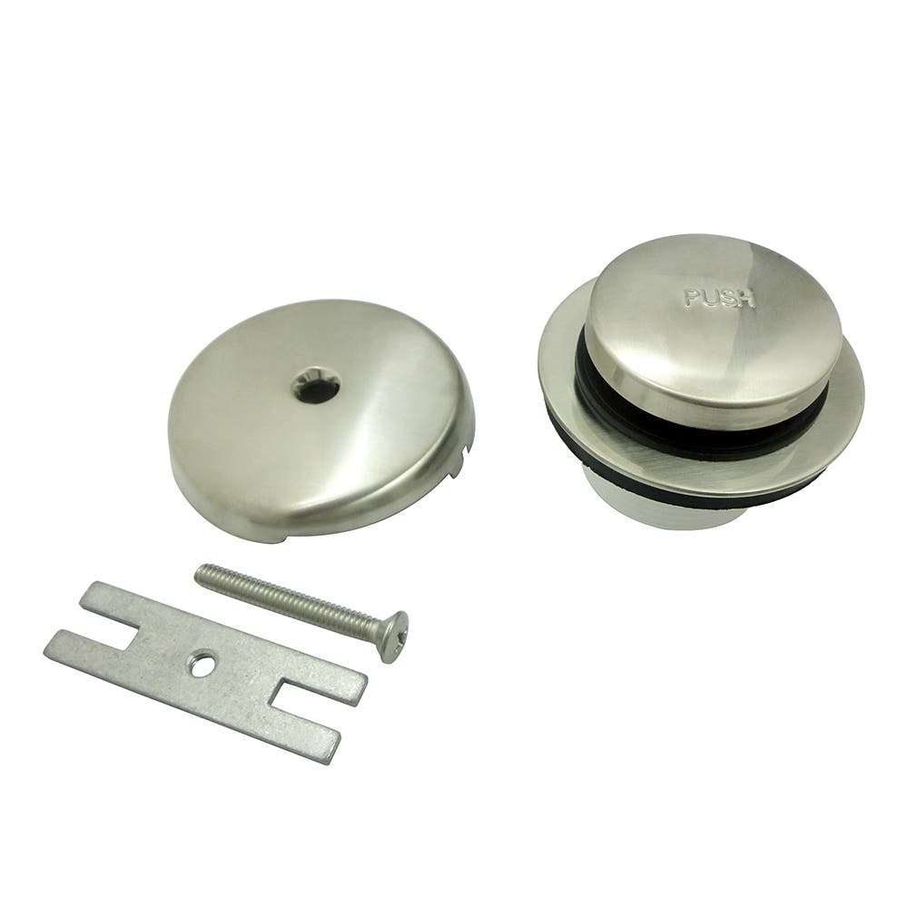 "EASY TOUCH TOE TAP TUB DRAIN  KIT-BRUSHED NICKEL 1-1/4"" OR"