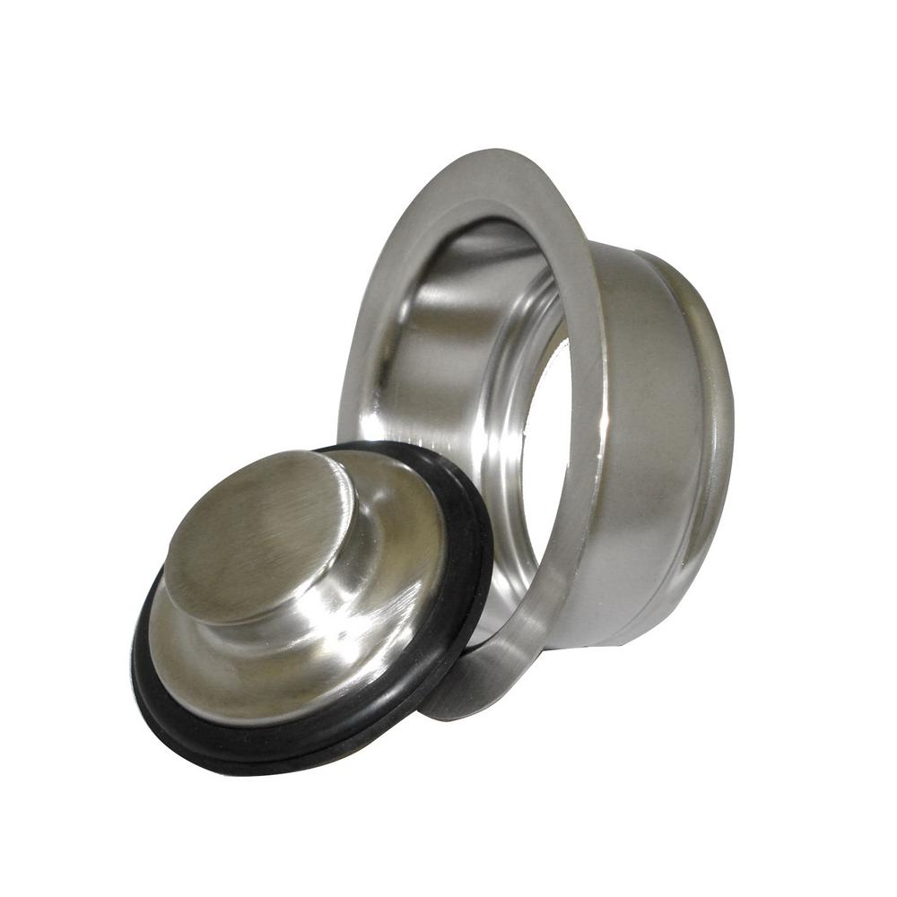 DISPOSAL FLANGE AND STOPPER  SET-BRUSHED NICKEL